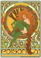 Poison Ivy art nouveau colored by RaquelArtQ