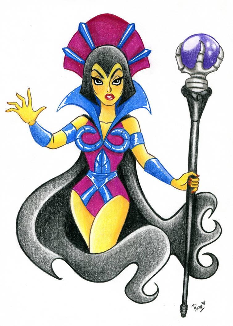 Evil Lyn Colored by RaquelArtQ