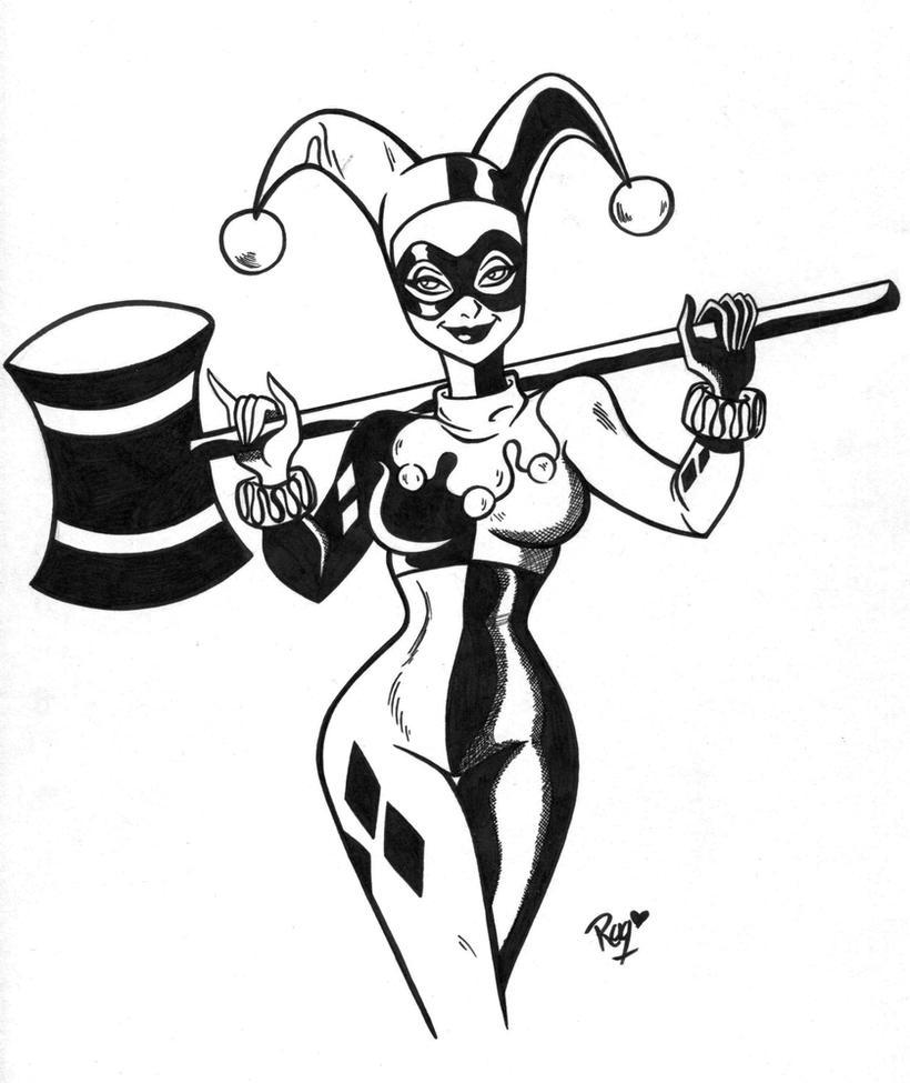 Harley Quinn by RaquelArtQ