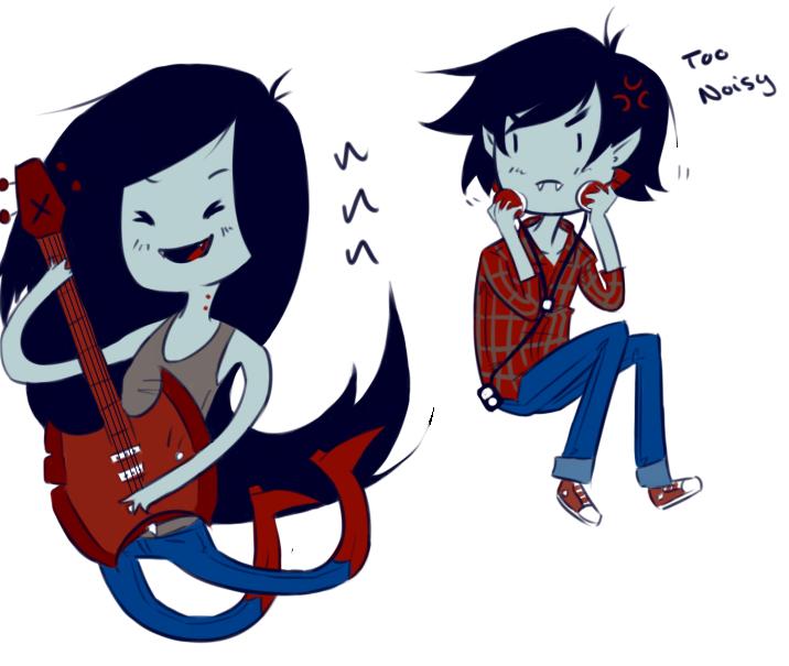 Marceline And Marshall Lee By Omnomnom Monster