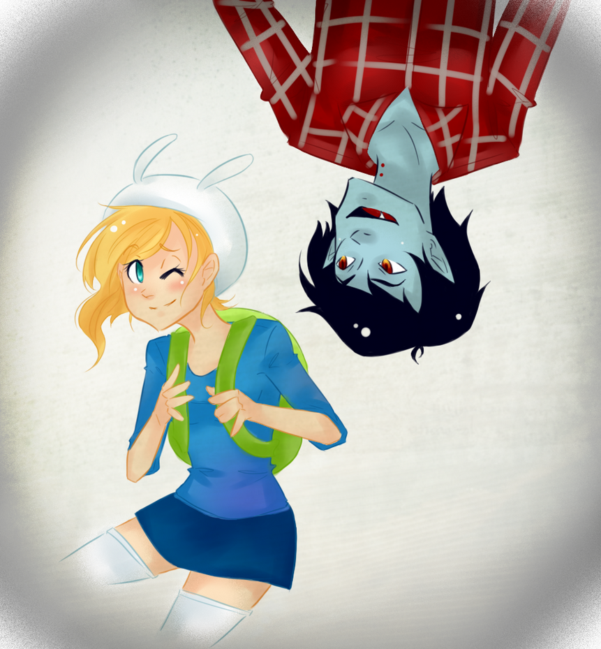 Marshall Lee and Fiona by Omnomnom-Monster