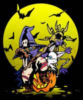 Gatomon and Wizardmon by hajimikimo