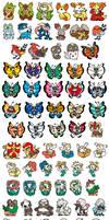 All Gen 6 Pokemon Stickers!