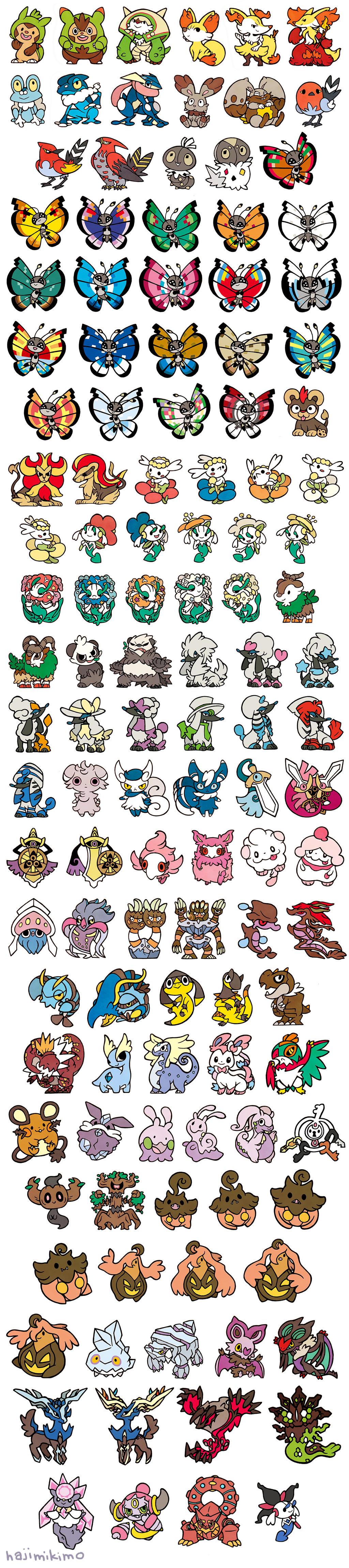 all gen 6 pokemon stickers by hajimikimo on deviantart