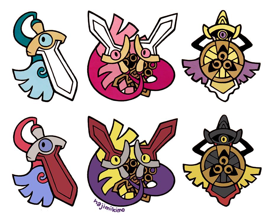 Shiny Gen 6 Stickers 30-32 by hajimikimo