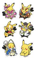 Cosplay Pikachu Stickers