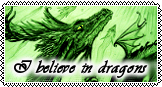 I believe in dragons - big Stamp -