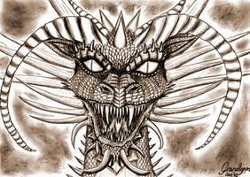 Great-Dragon Tiamat by Gewalgon