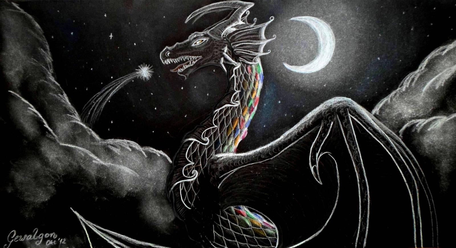 Rainbow Dragon - Wish you something! by Gewalgon