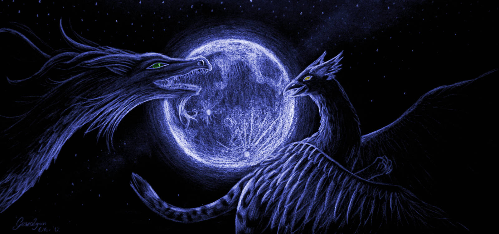 Dance of the creatures of moon by Gewalgon