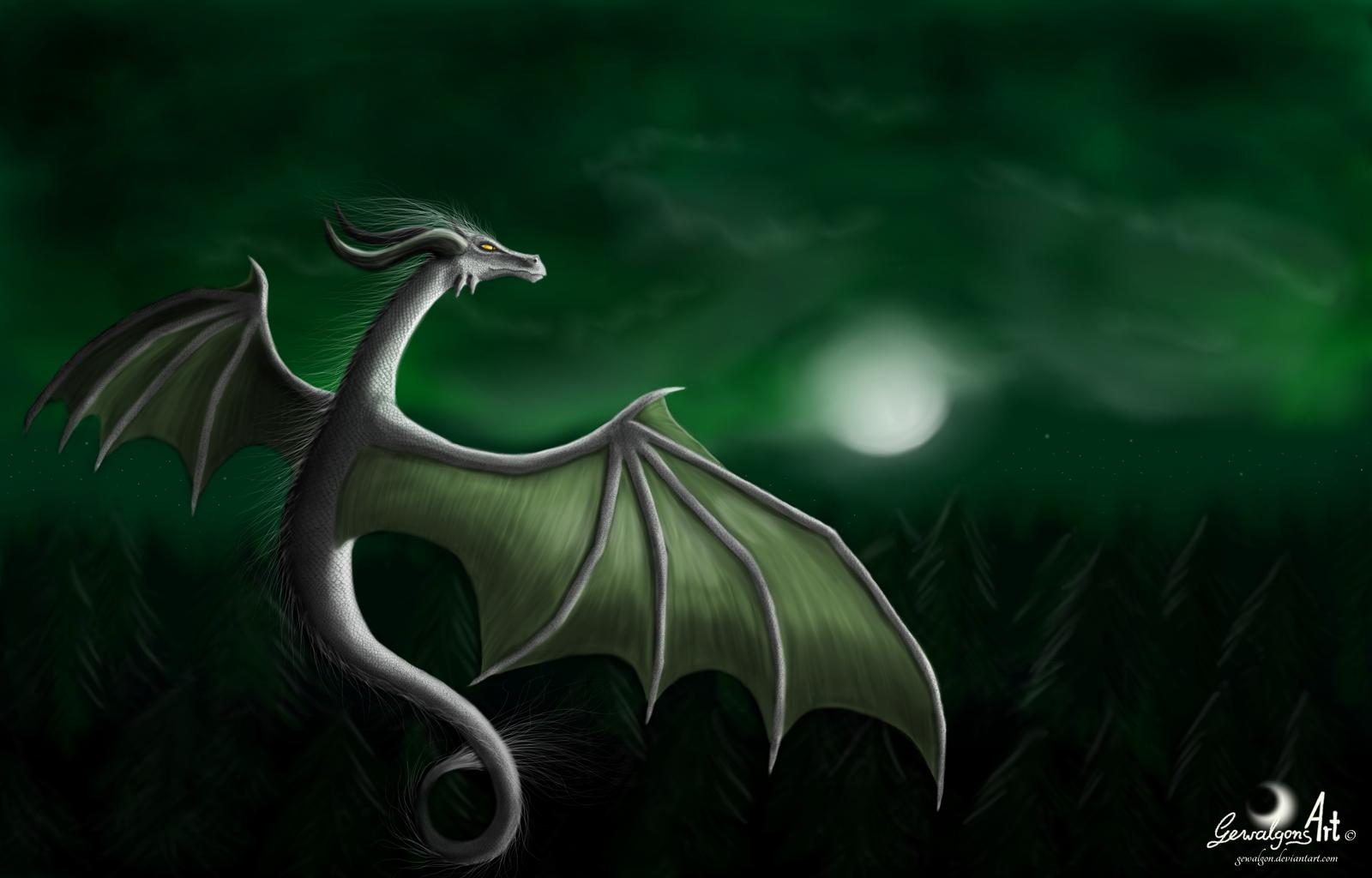 Peaceful Dragon Night by Gewalgon
