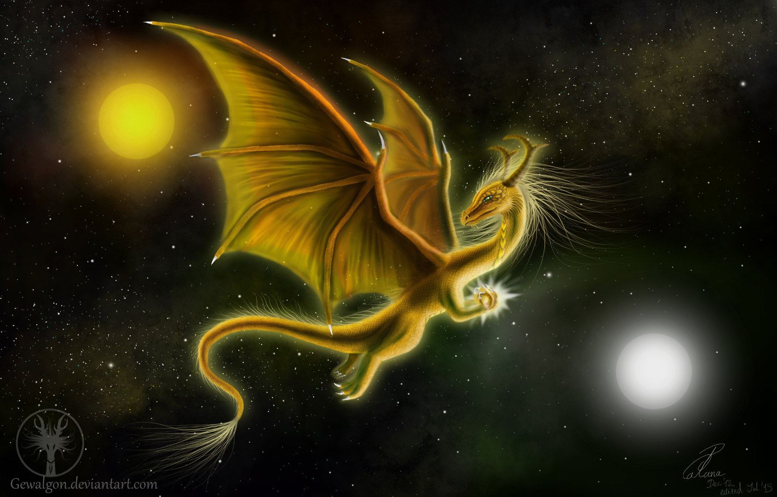 Golden Dragon of the Universe by Gewalgon