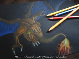 WIP of Charizard - Master of flying fires by Gewalgon