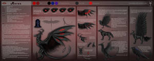 Ref Sheet - Aurun the demon by Gewalgon