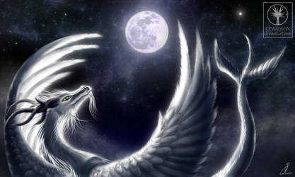 Angel of night - Embracing the moon