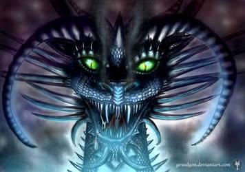 Great Dragon Tiamat (digital) by Gewalgon