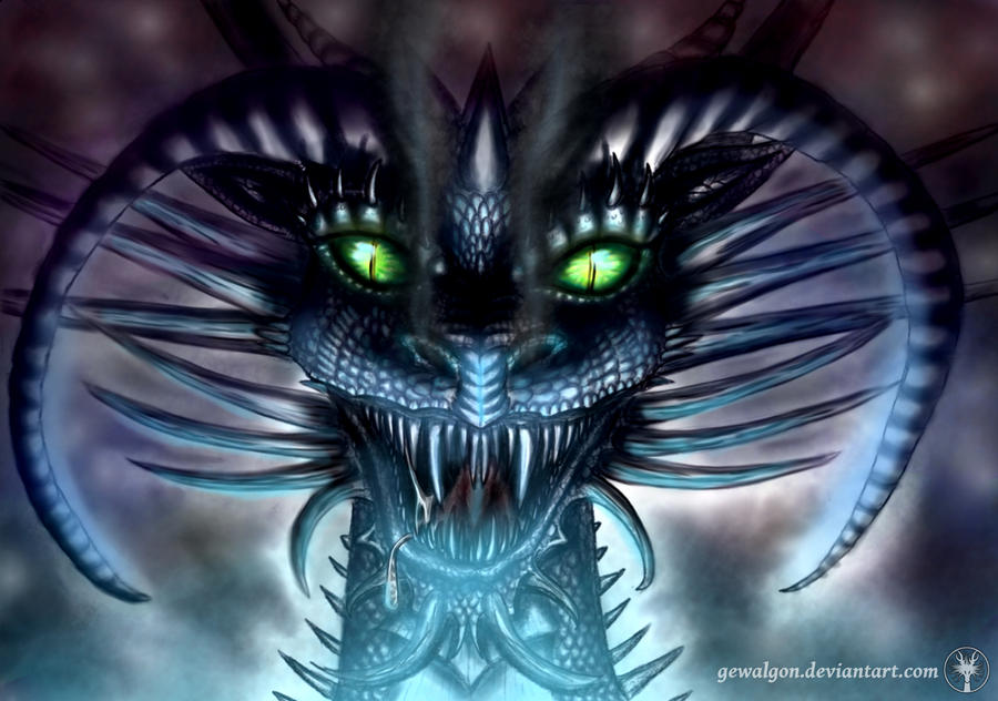 great dragon tiamat digital by gewalgon on deviantart
