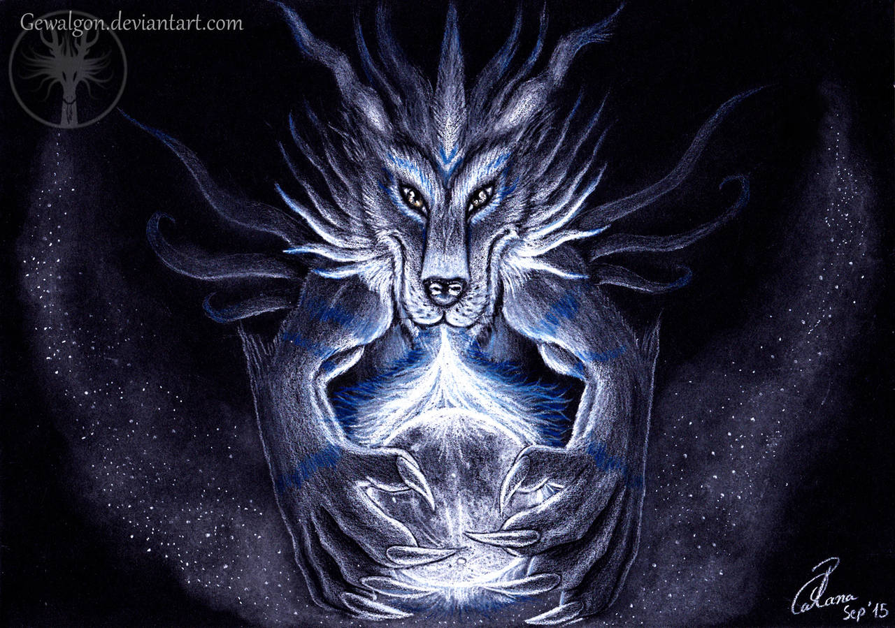 Garurumon - The blue fire of the moon by Gewalgon