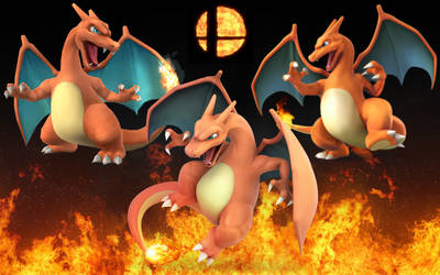 Super Smash Bros Charizard: Then and now