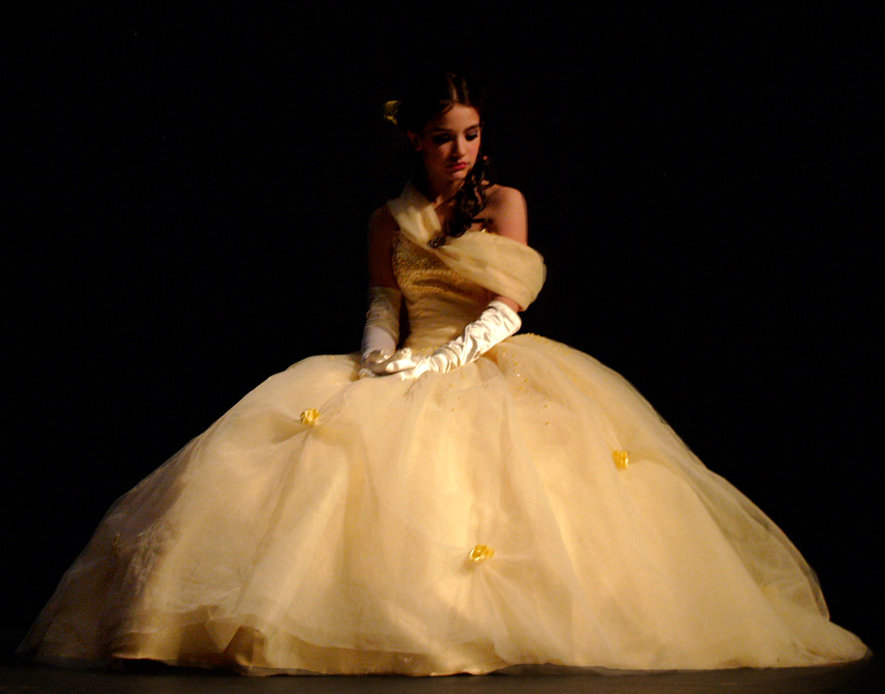 Belle contemplates by pearberry on deviantart for Wedding dress like belle from beauty and the beast