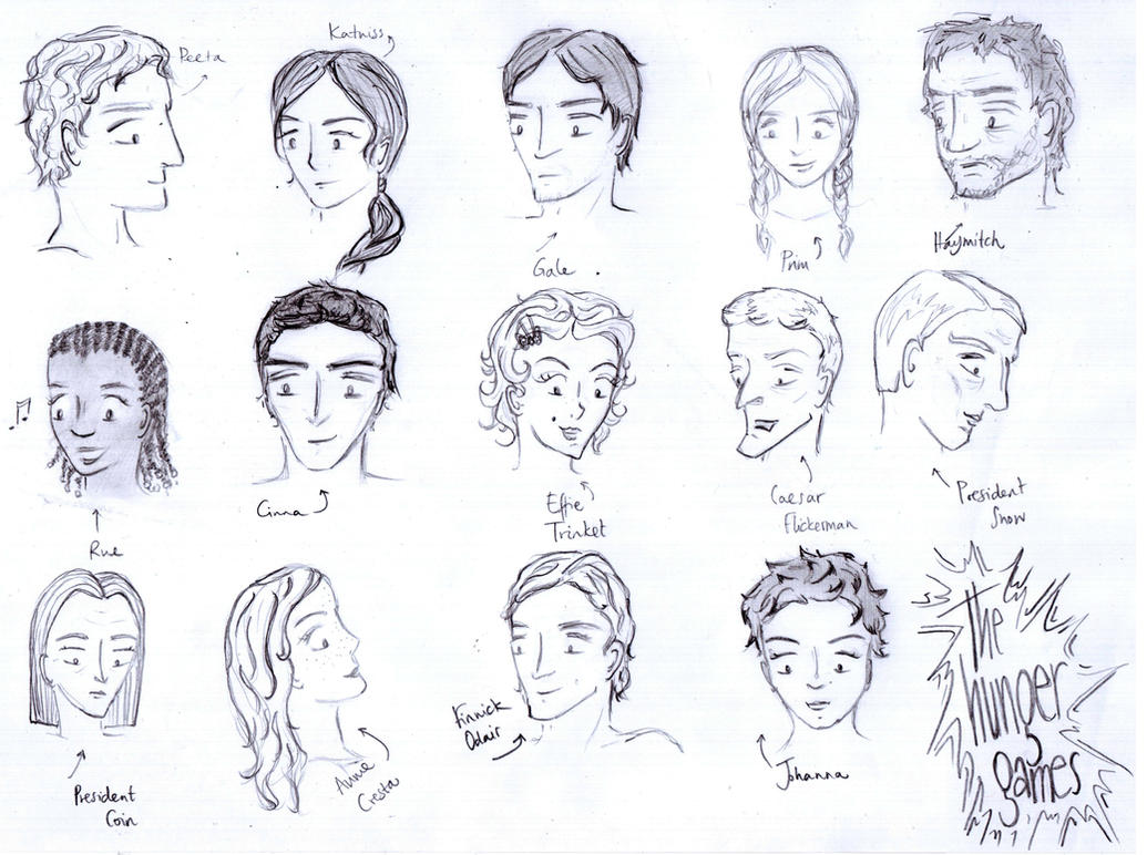 Hunger games coloring pages online - Hunger Games Characters By Dshamilja