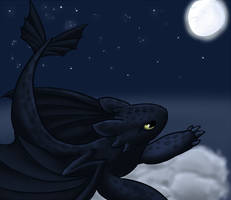 Toothless for Synfal by silhouette345