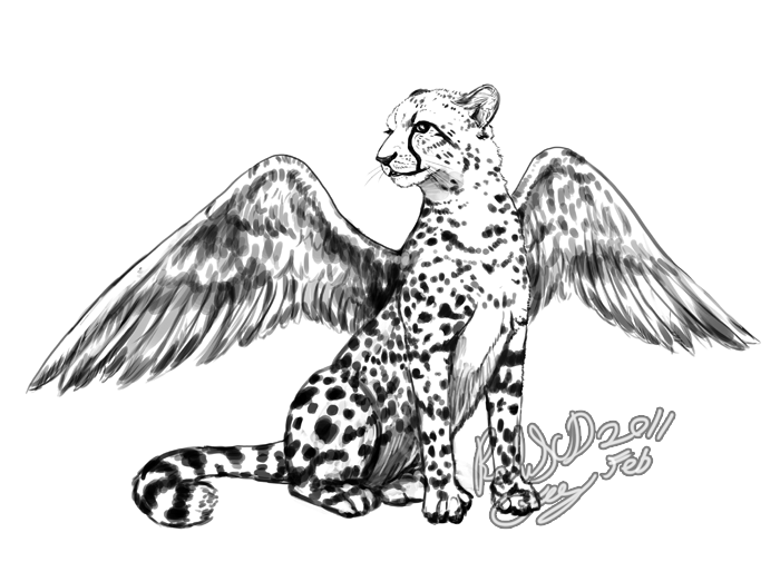 Winged Cheetah Concept by FalyneVarger