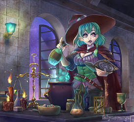 Mixing potions by FalyneVarger
