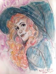 Warm Witch Pastel Portrait