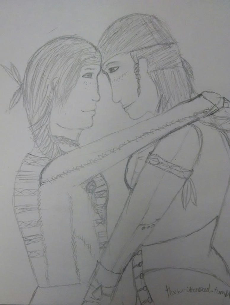 Fem!Kanen and fem!Connor (sketch) by hinata5o5