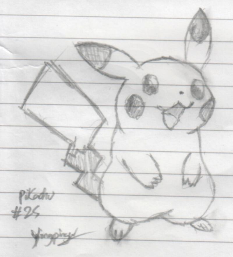 Yingpingu: Pencil'd Pikachu by Yingpingu