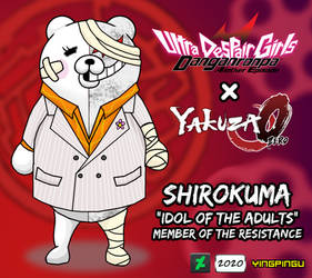 Shirokuma x Kiryu [Danganronpa x Yakuza]