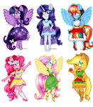 The Mane 6 New Outfits