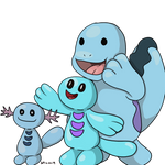 Wippor, Wooper, and Quagsire