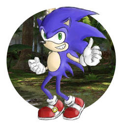 Look Ma-a Blue Hedgehog