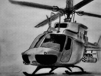 OH-58 Kiowa Warrior by TropicalxLondon