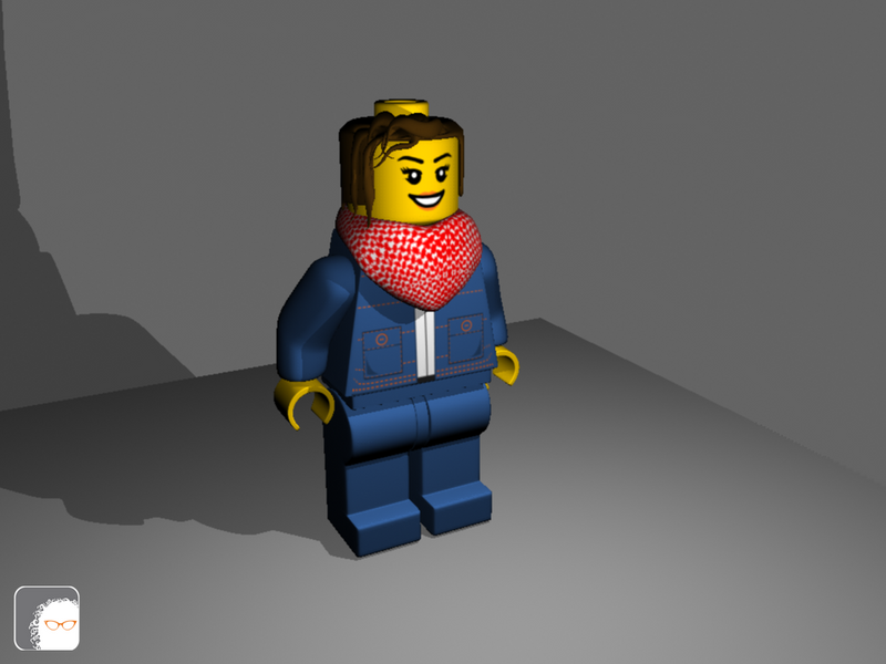 Lego Minifigure 3D Modeling with light by agentlina on DeviantArt