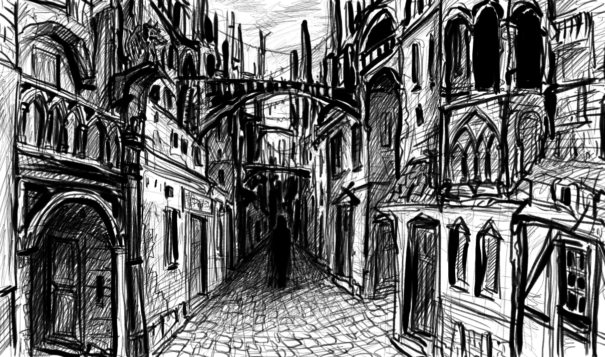 Street perspective by exarion-cz on DeviantArt