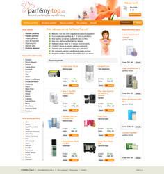Parfemy-top.cz - webdesign by exarion-cz