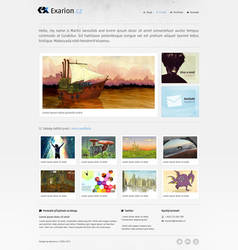 Light portfolio design by exarion-cz