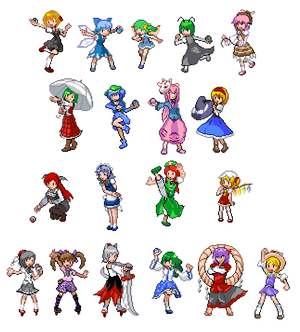 Touhoumon 2.0 - Trainer Sprites 01
