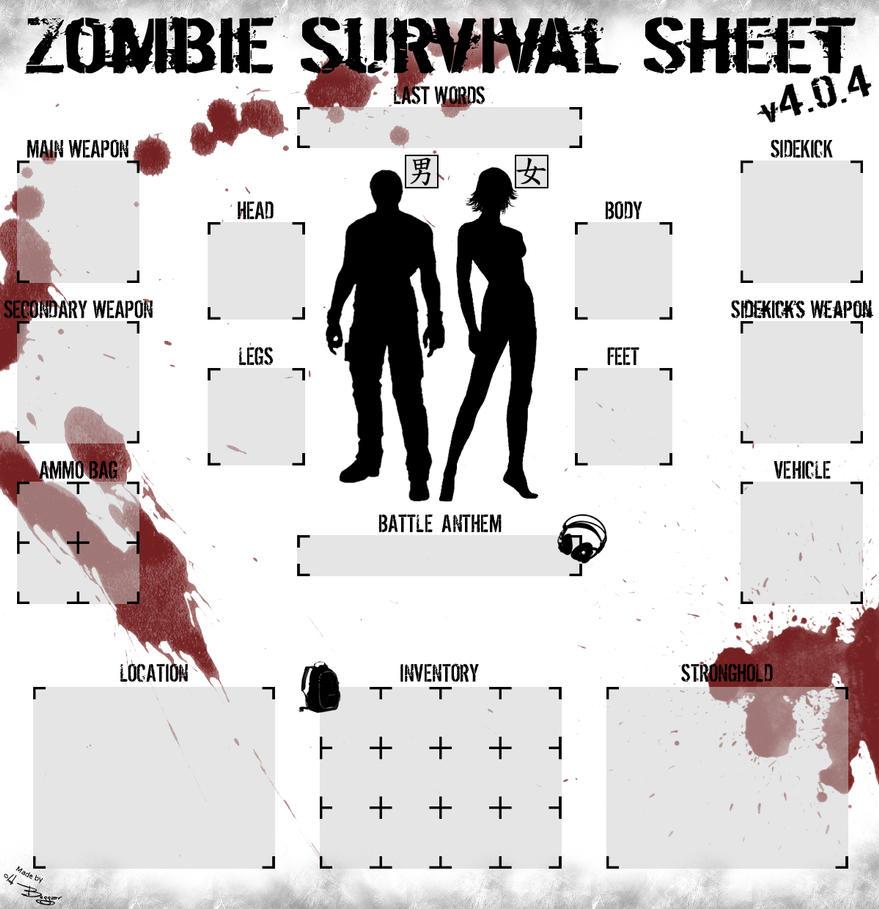 Zombie Survival Sheet ... Zombie Apocalypse Survival Kit Labels