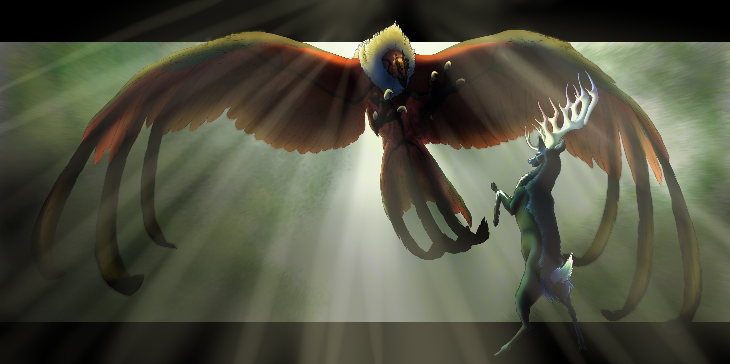 Yveltal and Xerneas by finiens on DeviantArt
