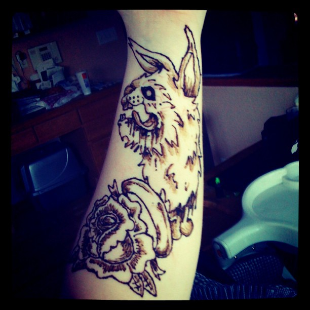 Sleeve Henna Tattoo by MonteyRooHenna Tattoo Arm Sleeve