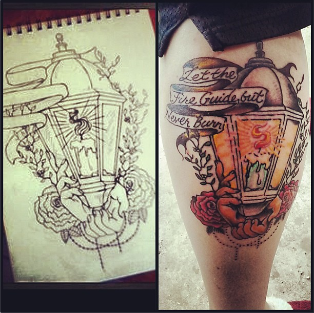 Lantern Tattoo vs design by MonteyRoo on DeviantArt