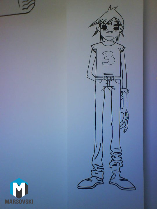 Wall paint - Gorillaz 2D 2 by Marsovski