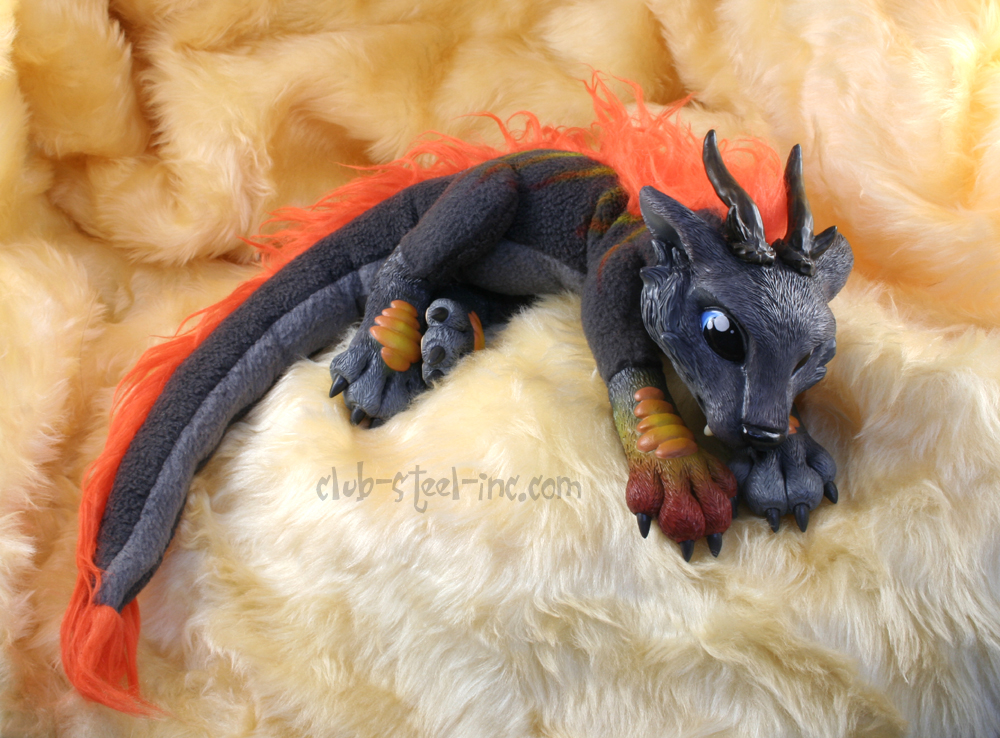 Fire Wolf Plushie Faun Thing by SpankTB
