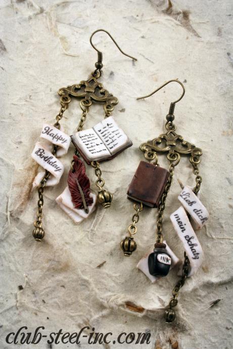 Book Earrings by SpankTB