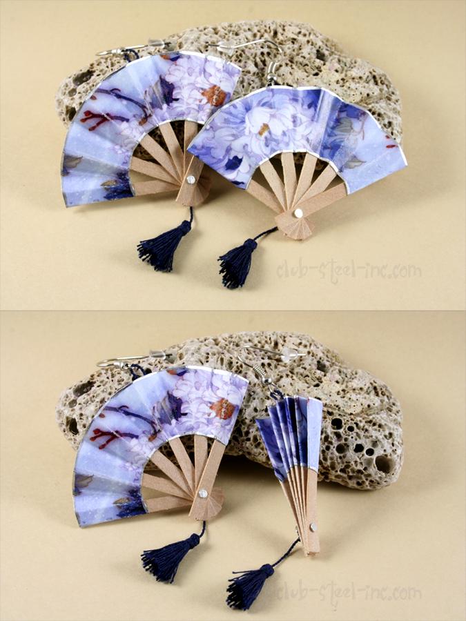 Chinese Fan Earrings by SpankTB