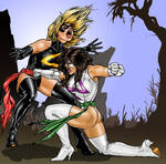 ms  marvel vs  mirror Battle of the Amazons by Ant